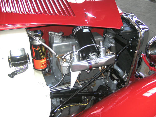 1946 MG TC Engine Bay