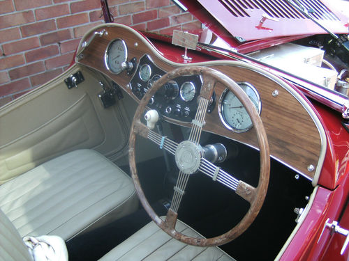 1946 MG TC Interior Dashboard