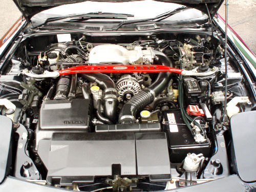 1994 mazda rx7 twin turbo type rz engine bay