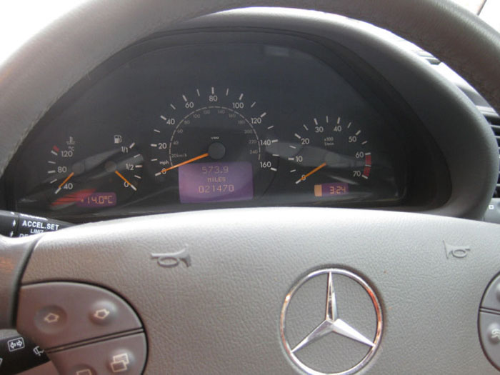 2000 mercedes clk320 elegance automatic dashboard