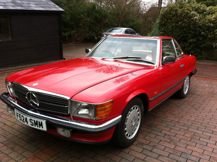 1989 mercedes 300 sl auto red 1