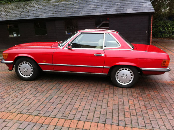 1989 mercedes 300 sl auto red 2