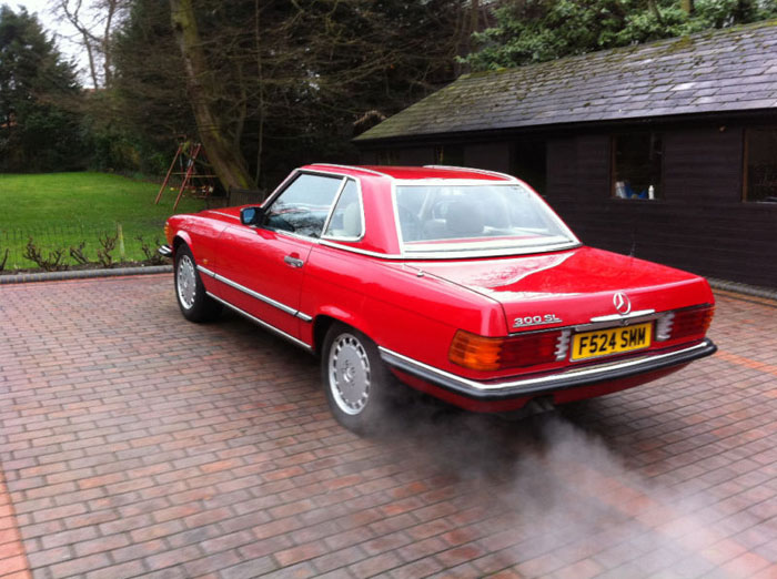 1989 mercedes 300 sl auto red 3