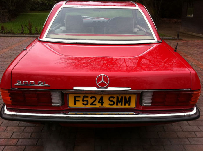1989 mercedes 300 sl auto red 4