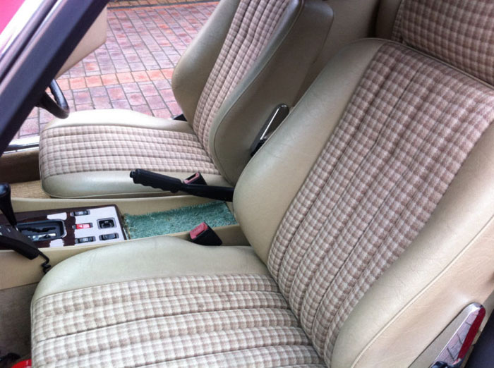 1989 mercedes 300 sl auto red front seats