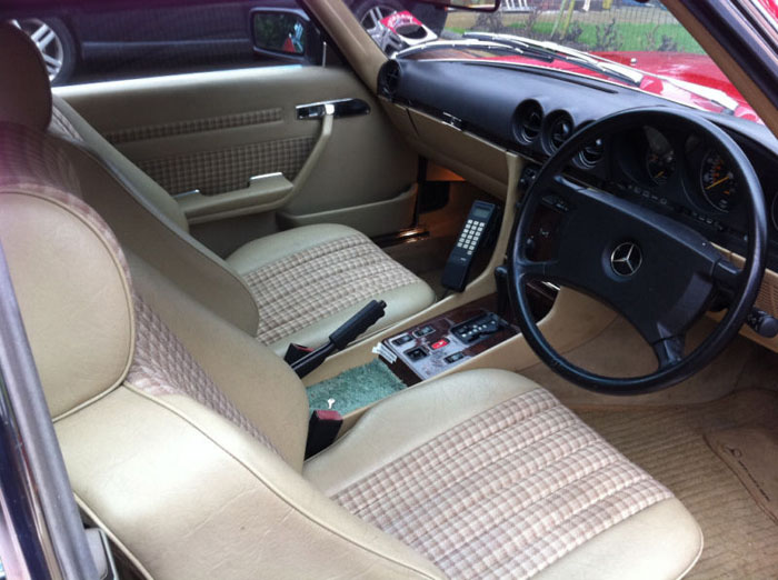 1989 mercedes 300 sl auto red interior 1