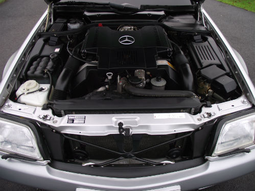 1992 mercedes-benz sl 500 r129 engine bay
