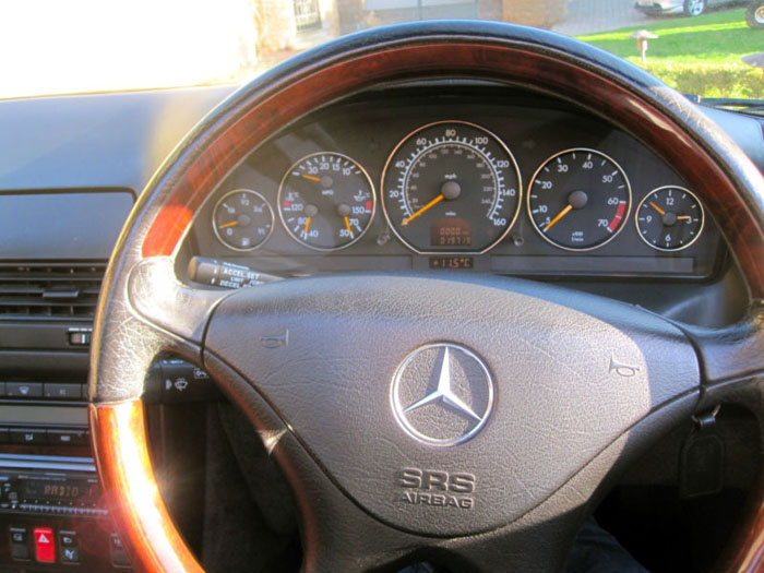 1999 mercedes sl320 r129 automatic convertible dashboard steering wheel