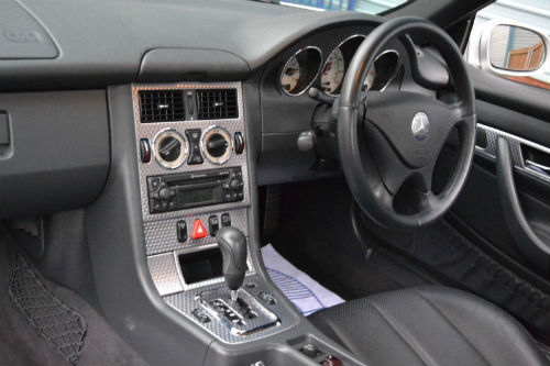 2002 mercedes benz slk230 kompressor 2.3 auto dashboard