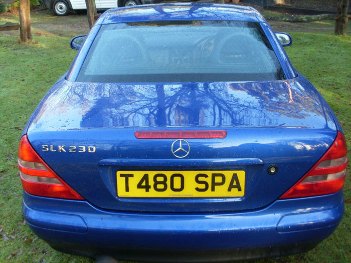 1999 mercedes slk 230 kompressor auto blue back