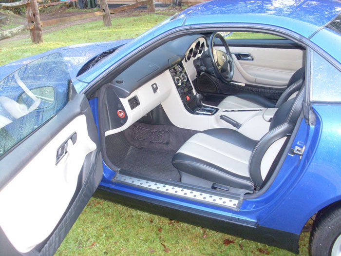 1999 mercedes slk 230 kompressor auto blue interior