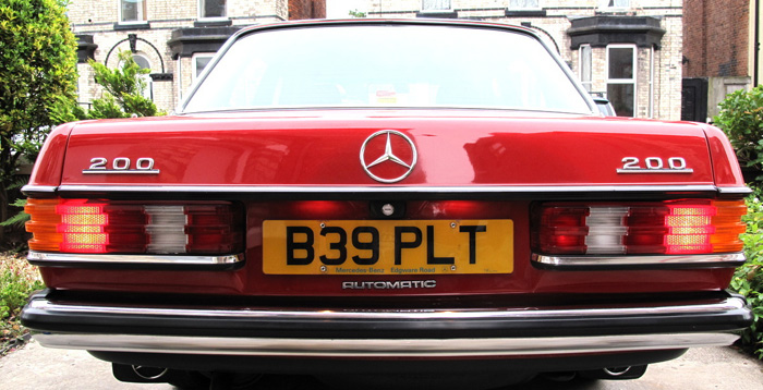 1985 Mercedes-Benz W123 200 Back