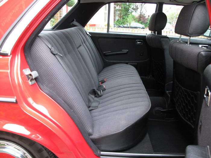 1985 Mercedes-Benz W123 200 Rear Interior