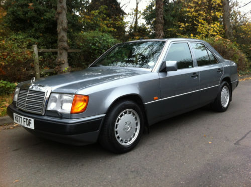 1990 mercedes 260e auto pearl grey metallic w124 1