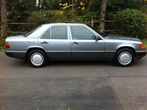 1990 mercedes 260e auto pearl grey metallic w124 2