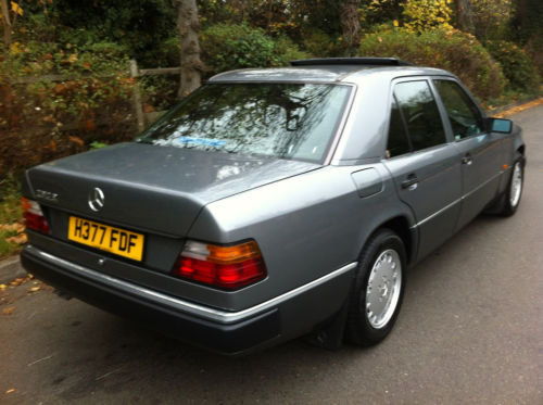 1990 mercedes 260e auto pearl grey metallic w124 4