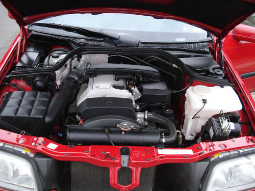 1997 mercedes benz c180 red manual engine bay
