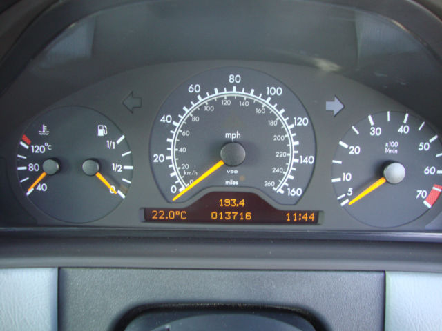 1996 Mercedes-Benz W210 E280 Dashboard Gauges