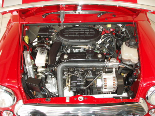 1993 mini cooper sport engine bay