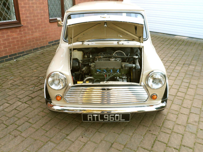 1971 mini cooper s mk3 engine bay 1