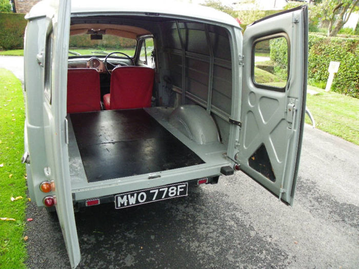 1967 morris minor van interior 2