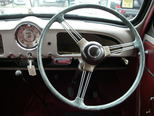 1956 Morris Minoir Series ll Dashboard Steering Wheel