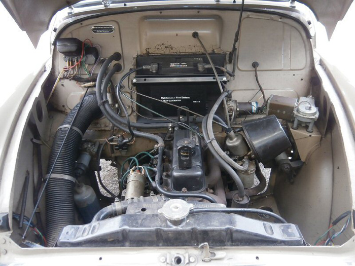 1972 Morris Minor Van Engine Bay