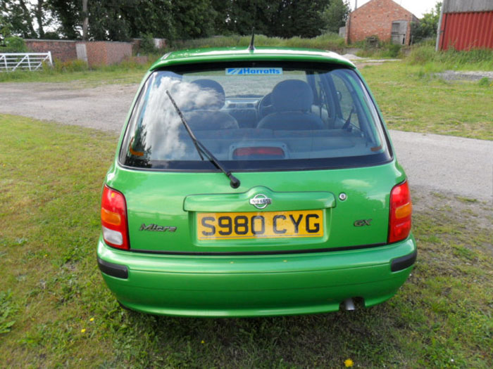 1998 nissan micra gx auto green back