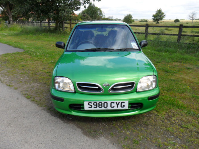 1998 nissan micra gx auto green front