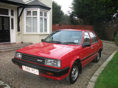 1985 nissan sunny 1.3 gs red 1