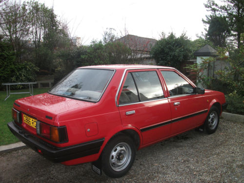 1985 nissan sunny 1.3 gs red 2