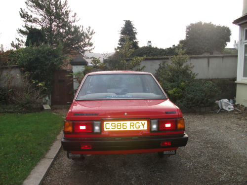 1985 nissan sunny 1.3 gs red 3