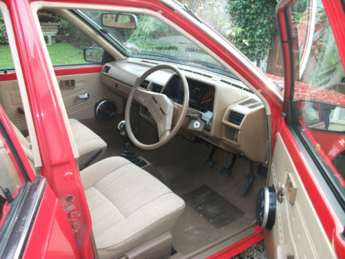 1985 nissan sunny 1.3 gs red interior 1