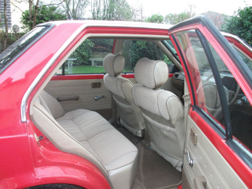 1985 nissan sunny 1.3 gs red interior 2