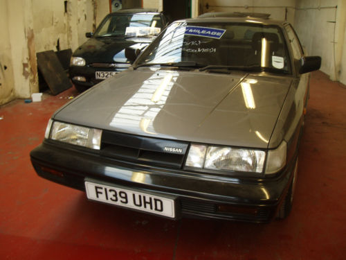1988 nissan sunny coupe grey 1