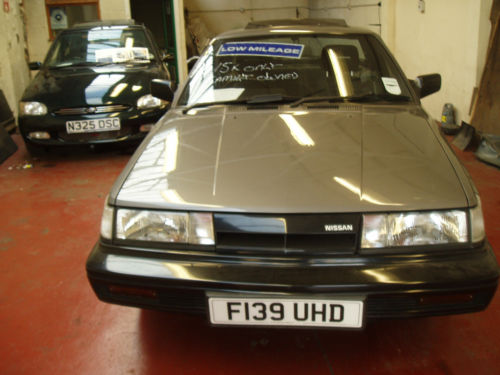 1988 nissan sunny coupe grey 2