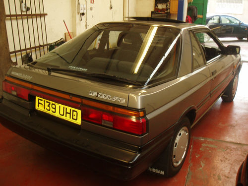 1988 nissan sunny coupe grey 4