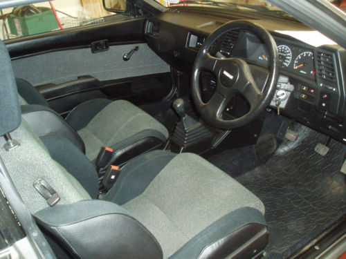 1988 nissan sunny coupe grey interior 1
