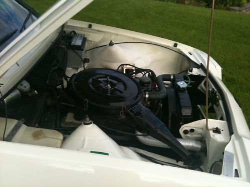 1977 opel manta sr berlinetta white engine bay
