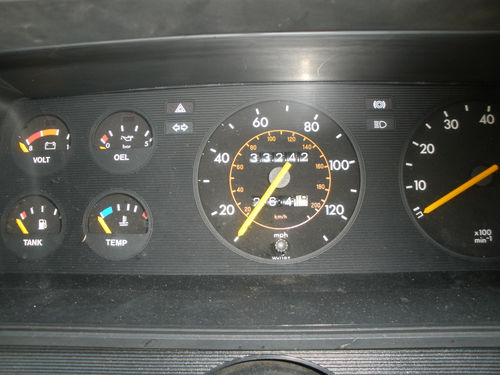 1983 Opel Manta 1.8S GTE Berlinetta Dashboard Gauges
