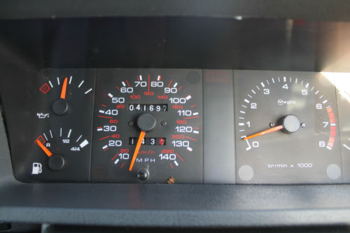 1985 Peugeot 205 1.6 GTi Dashboard Gauges