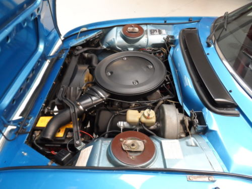1975 Peugeot 504 V6 Cabriolet Engine Bay