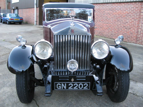 1930 rolls-royce 20 25 sports saloon by barker front