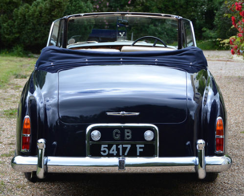 1959 Rolls Royce Silver Cloud 1 H.J. Mulliner Convertible Back