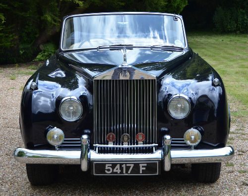 1959 Rolls Royce Silver Cloud 1 H.J. Mulliner Convertible Front