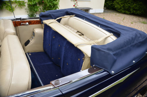 1959 Rolls Royce Silver Cloud 1 H.J. Mulliner Convertible Rear Interior Seats Up