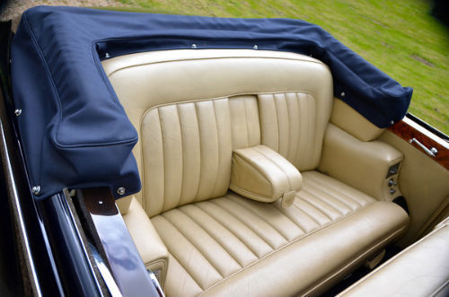 1959 Rolls Royce Silver Cloud 1 H.J. Mulliner Convertible Rear Interior