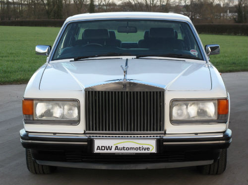 1991 rolls royce silver spirit ii acrylic white front