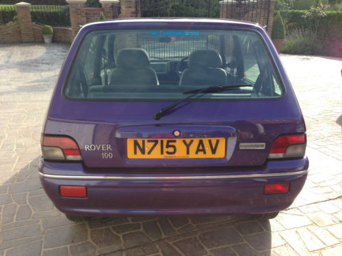 1996 Rover 100 Knightsbridge SE Purple Back