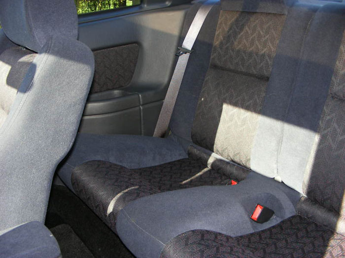 1994 rover 216 coupe rear seats